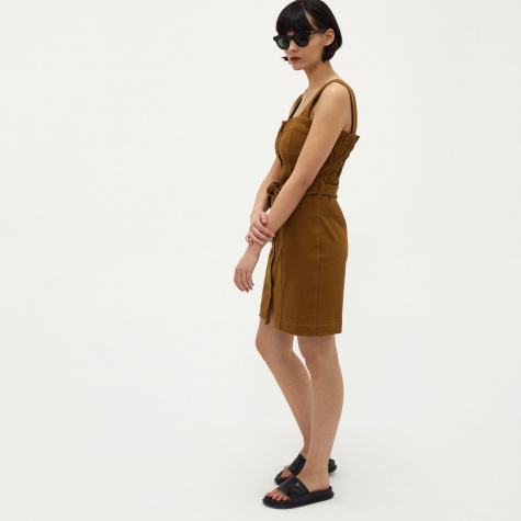Nuria Denim Dress - Spice Brown