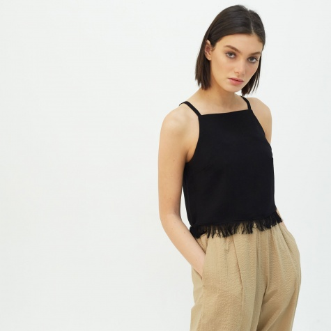 Tonic Linen Top - Black