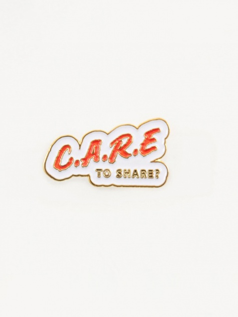 Care Pin - White/Red