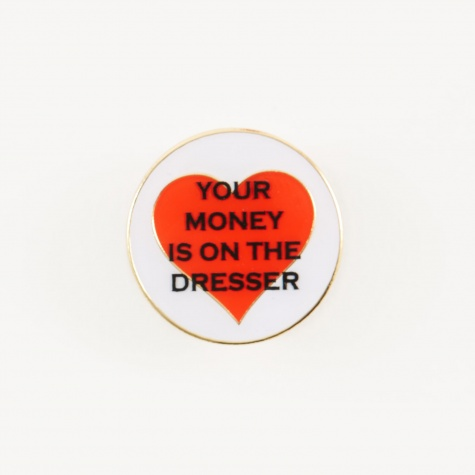 Money Pin - White/Red