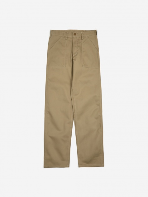 Taper Fit 4 Pocket Fatigue Trousers 8.5oz - Khaki