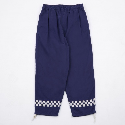 Embroidered Beach Pants - Blue
