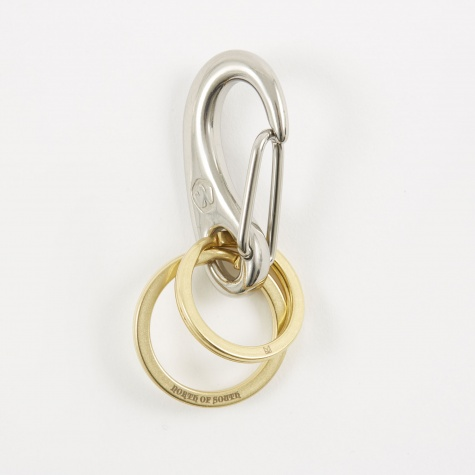 Double Ring (Wichard) Snap - Silver/Brass