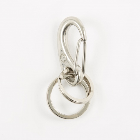 Double Ring (Wichard) Snap - Silver/Silver