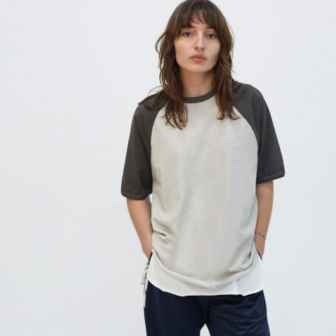 Raglan Colourblocked T-Shirt - Grey/Charcoal