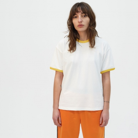 Ringer T-Shirt - White/Yellow