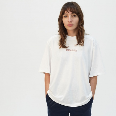 Padded Shoulder T-Shirt - White