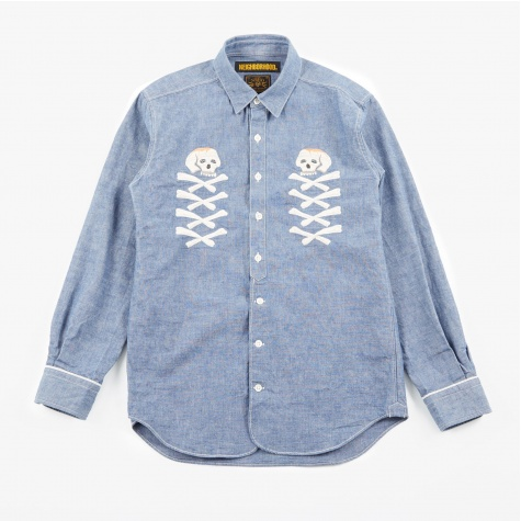 Chambray C L/S Shirt - Indigo