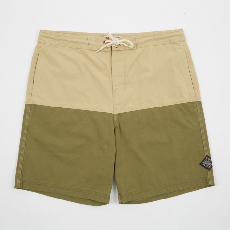 Nasi Boardshort - Khaki And Green