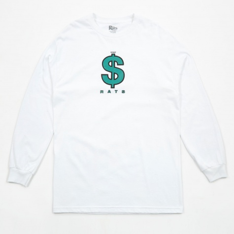 Money Sign Long Sleeve T-Shirt - White