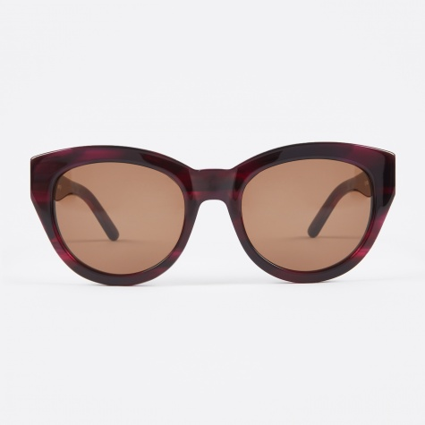 Agneta Sunglasses - Purple Pattern