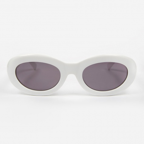 Courtney Sunglasses - Solid White