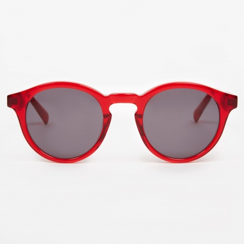 Zinedine Sunglasses - Transparent Red
