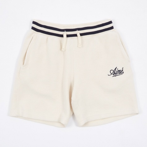 Reverse Fleece Shorts - Natural/Midnight