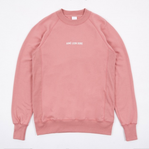 Logo Crewneck Sweatshirt - Dusty Pink