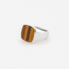 Tom Wood Cushion Ring - Tigers Eye