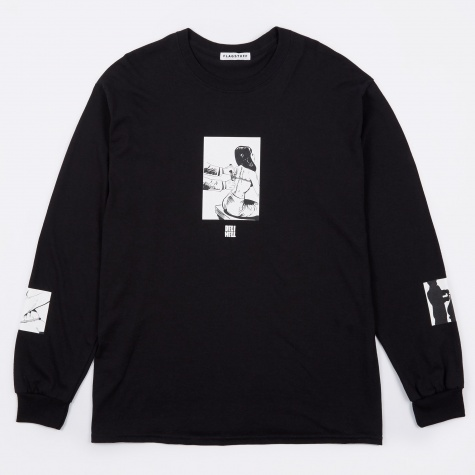 Tie Long Sleeve T-Shirt - Black