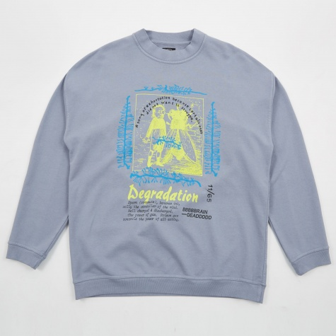 Degradation Crewneck Seatshirt - Washed Blue