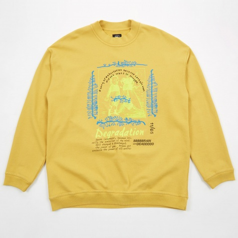 Degradation Crewneck Sweatshirt - Mustard