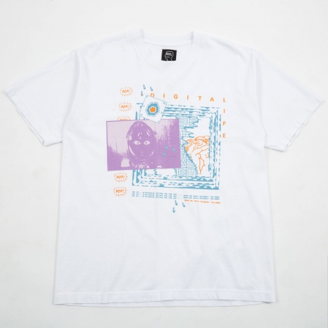 Digital Life Short Sleeve T-Shirt - White