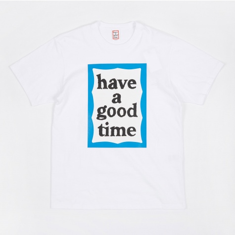 Blue Big Frame T-Shirt - White