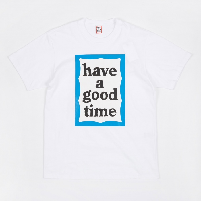 Have A Good Time Blue Big Frame T-Shirt - White (Image 1)
