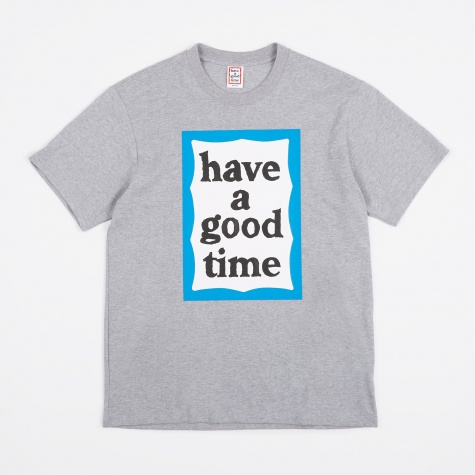 Blue Big Frame T-Shirt - Heather Grey