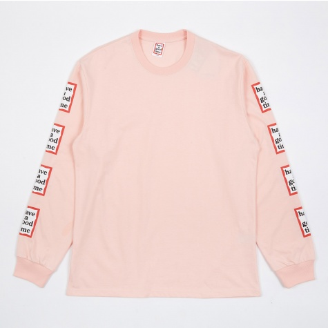 Arm Frame Long Sleeve T-Shirt - Light Pink