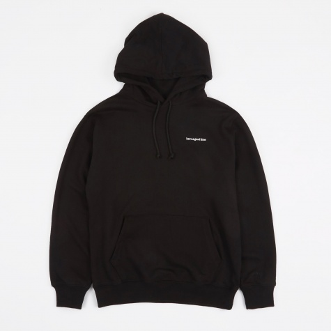 Side Logo Hooded Sweatshirt - Black