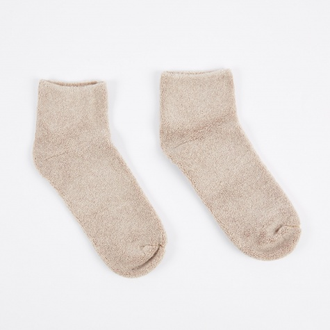 Buckle Ankle Socks - Nude