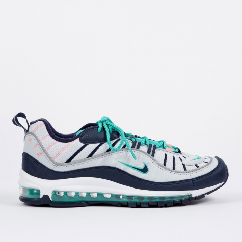 Air Max 98 - Pure Platinum/Obsidian-Kinetic Green