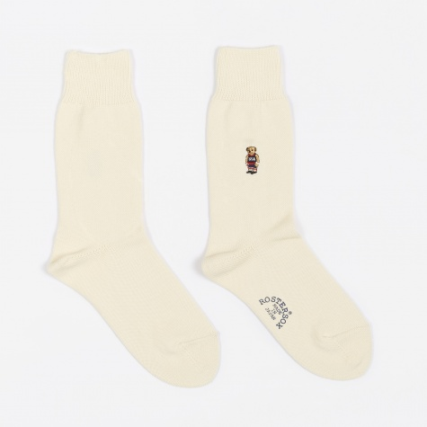 Basket Bear Socks - White