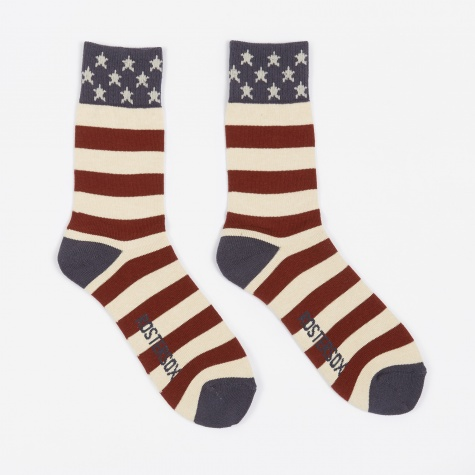 USA Old Socks - Red Line
