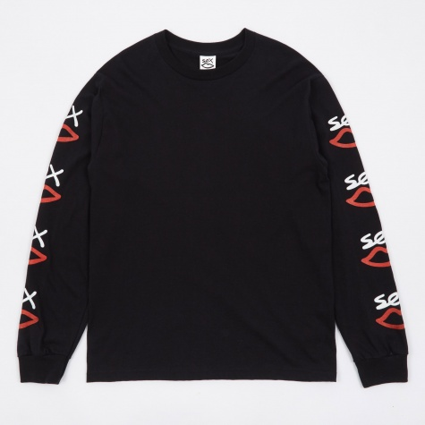 Logo Print Long Sleeve T-Shirt - Black