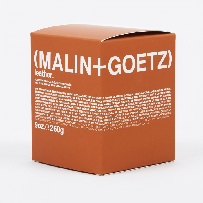 Malin+Goetz Scented Candle 260g - Leather (Image 1)