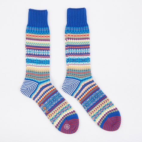 Rombform Socks - Azure