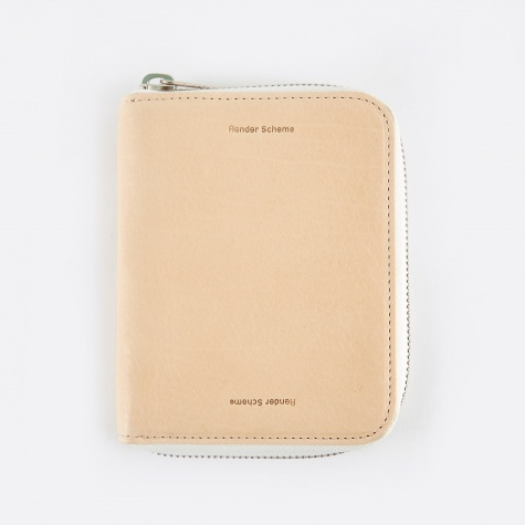 Square Zip Purse - Natural