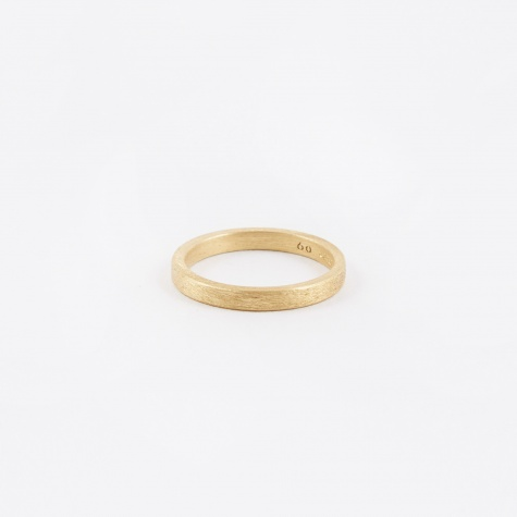 Square Ring - Brushed Gold