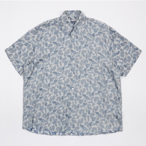 Borrowed S/S Shirt - Blue Paisley