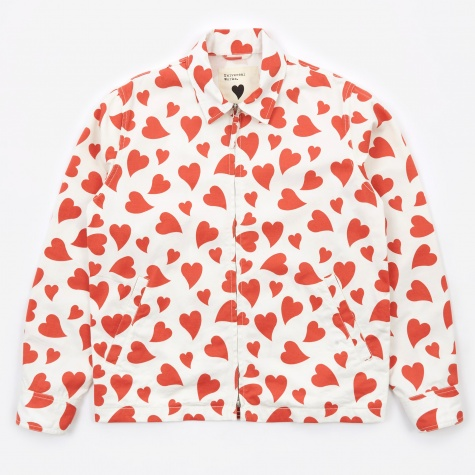 Goodhood x Universal Works Windcheater Jacket - Ecru/Red