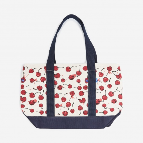 Popped Cherry Tote Bag - Natural