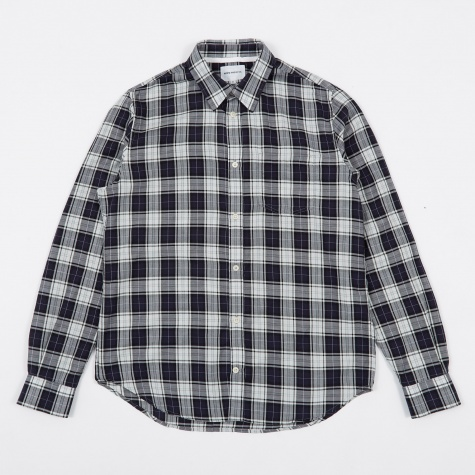 Osvald Soft Check Shirt - Kit White