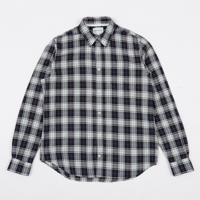 Norse Projects Osvald Soft Check Shirt - Kit White (Image 1)