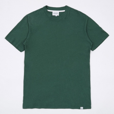 James Cotton Linen T-Shirt - Kelp Green