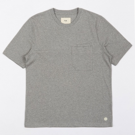 Angle Pocket Tee - Grey Melange