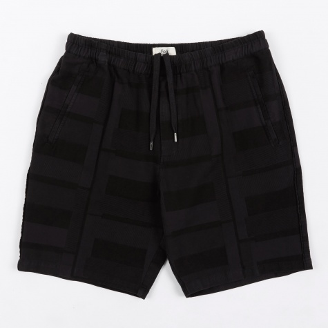 Drawcord Shorts - Washed Black