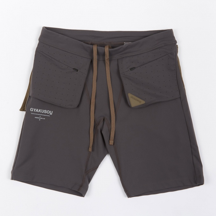 Nike x Undercover Gyakusou NRG Short Tight - Midnight Fog/Olive (Image 1)