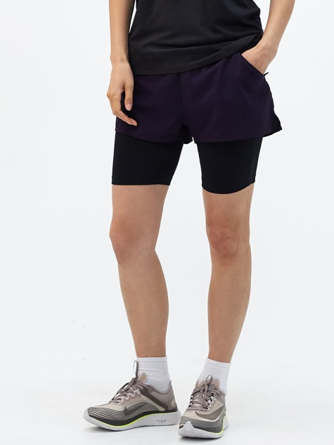 W NRG Woven Short - Purple/Black