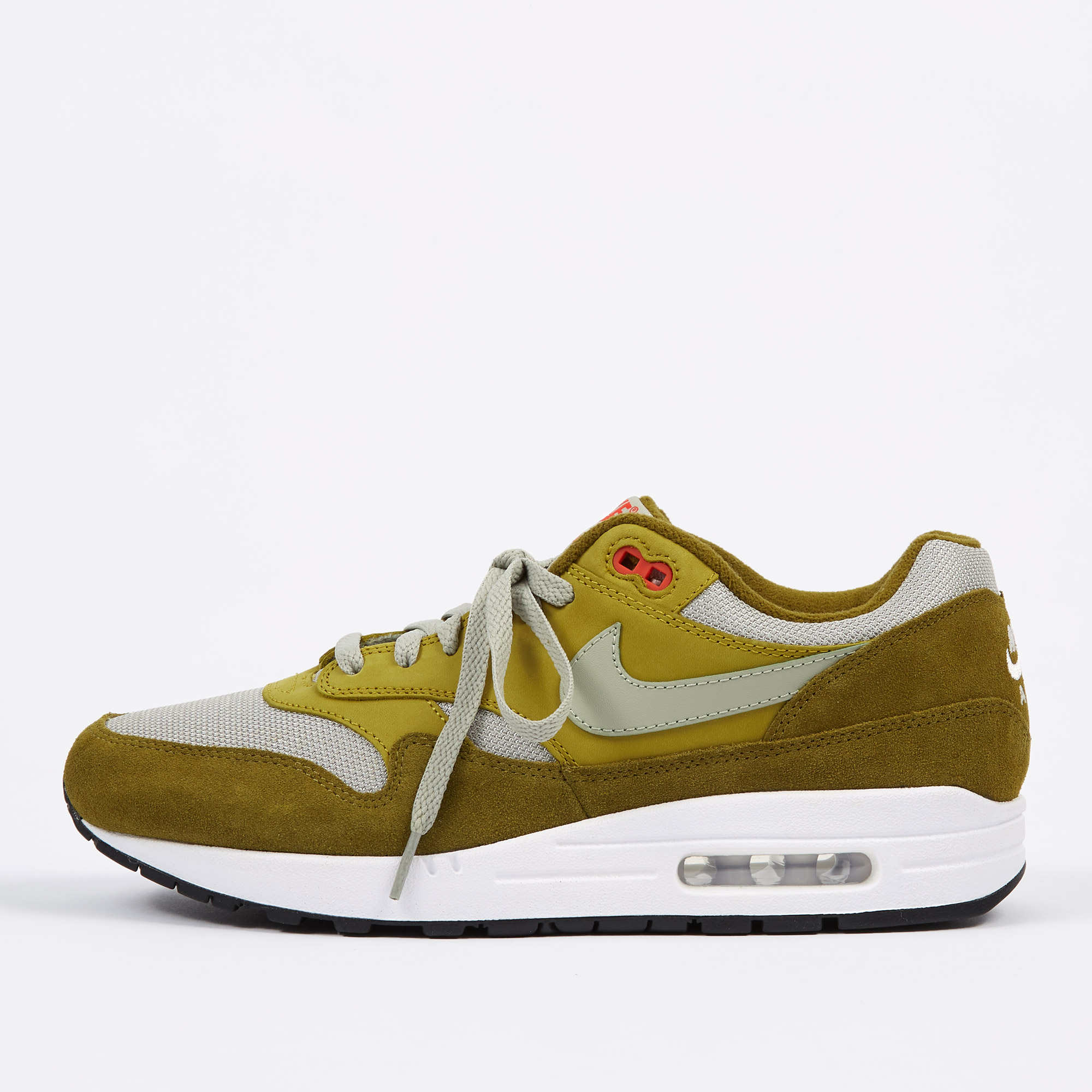 more photos 3d6b5 22ad1 Nike Air Max 1 Premium Retro Shoe - Olive FlakSpruce Fog