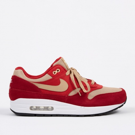 Air Max 1 Premium Retro Shoe - Tough Red/Mushroom-Rush